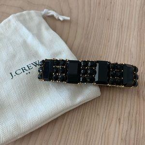 J Crew black jewel bracelet